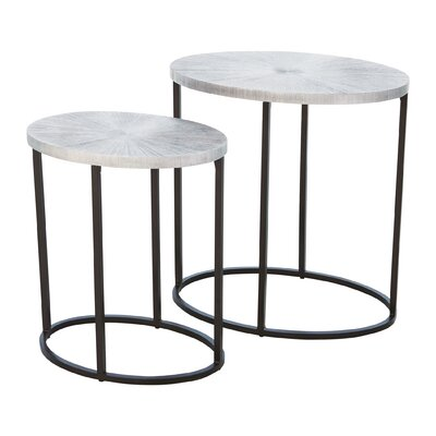 Striated End Table Color: Graphite