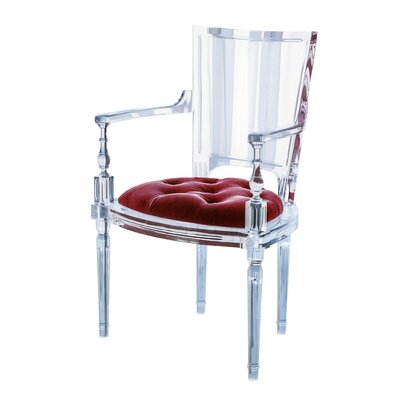 Marilyn Acrylic Dining Chair Color: Red Pepper