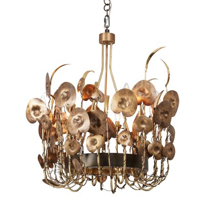 Lilium Mini Chandelier Finish: Antique Brass
