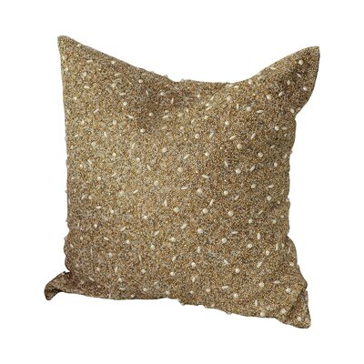 Beaded 100% Cotton Throw Pillow