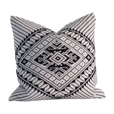 Hill Tribe 100% Cotton Throw Pillow Color: White/Black
