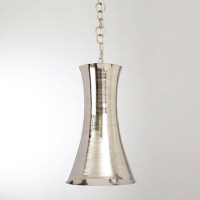 Trumpet 1-Light Mini Pendant Finish: Nickel