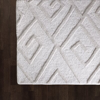 Maze Hand Tufted Ivory Area Rug Rug Size: Rectangle 5 x 8