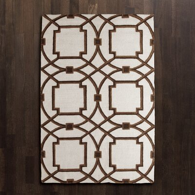 Arabesque Mocha Area Rug Rug Size: Rectangle 8 x 10