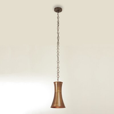 Trumpet 1-Light Mini Pendant Finish: Antique Brass