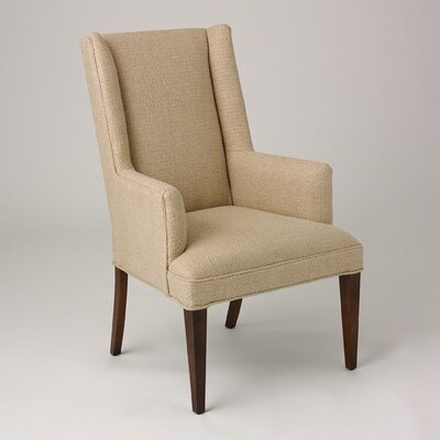 Straight Wingback Chair Upholstery: Protege Grid Natural