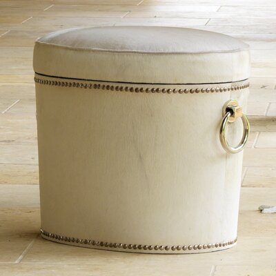 Chalis Ring Cowhide Leather Ottoman