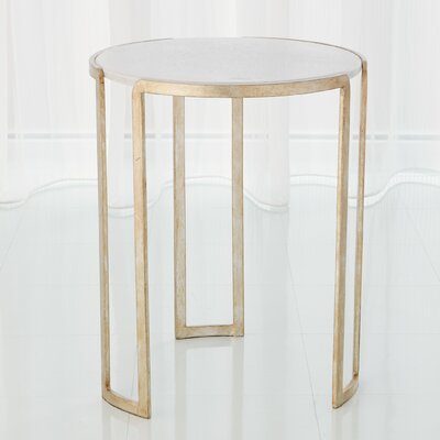 Channel End Table Color: Silver Leaf