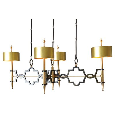 Quatrefoil 8-Light Drum Pendant