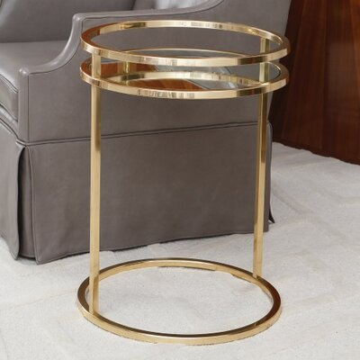 Ring End Table Color: Brass