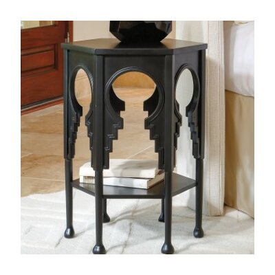 Jacobean End Table Color: Gray