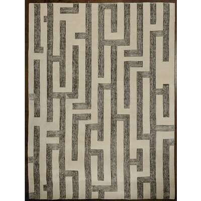 Labyrinth Hand-Tufted Gray Area Rug Rug Size: Rectangle 6 x 9