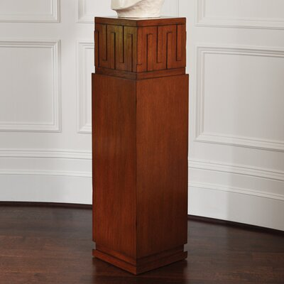 French Key Pedestal Plant Stand Color: Dark Oak