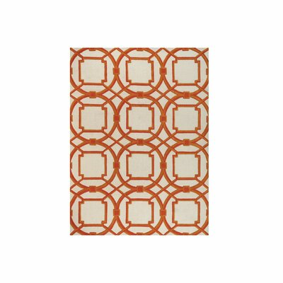 Arabesque Coral Area Rug Rug Size: Rectangle 9 x 12
