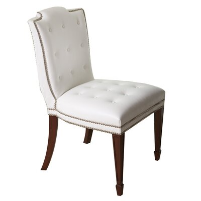 Be Seated in Chic Comfort Atlanta Genuine Leather Upholstered Dining Chair