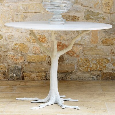 Faux Bois Dining Table Finish: White