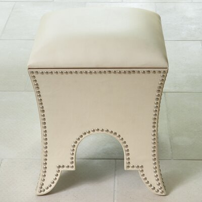 Ottoman Upholstery: Beige Leather