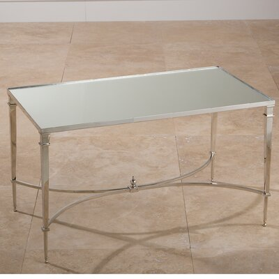 Enjoy A Brink In Style Coffee Table Color: Nickel with Mirror Top