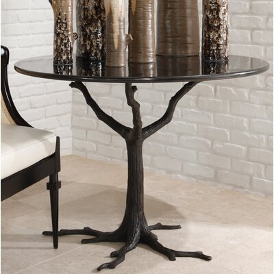 Faux Bois Dining Table Finish: Black