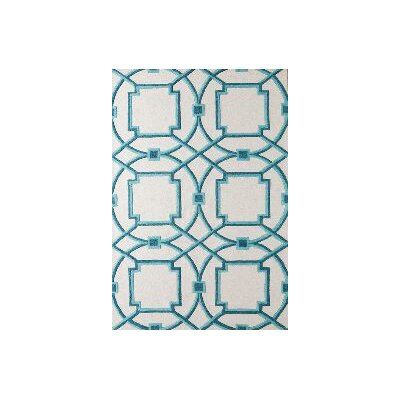 Arabesque Aqua Area Rug Rug Size: Rectangle 6 x 9