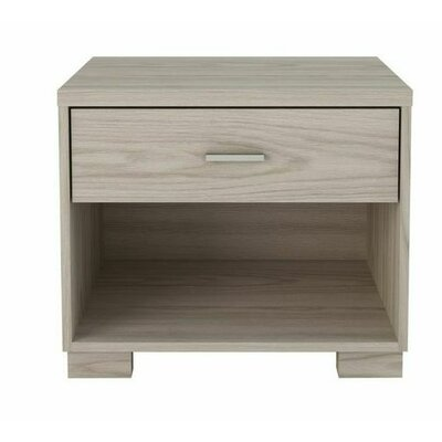 Astor 1 Drawer Nightstand Color: Nature White