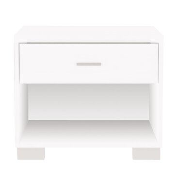 Astor 1 Drawer Nightstand Color: White Gloss