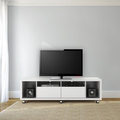 71 Newburyport Wooden TV Stand Color: White Gloss