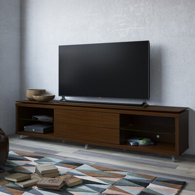 Franklin 77-95 TV Stand Color: Nut Brown, Width of TV Stand: 21.22 H x 76.77 W x 17.44 D