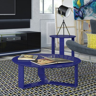 Emiliah 2 Piece Coffee Table Set Color: Midnight Blue