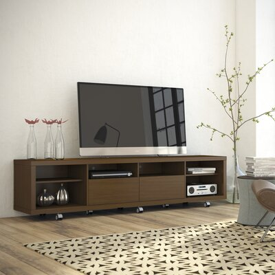 Newburyport Modern Wooden TV Stand Color: Nut Brown