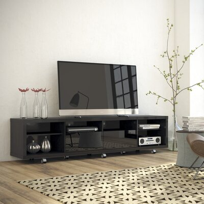 Newburyport Modern Wooden TV Stand Color: Black