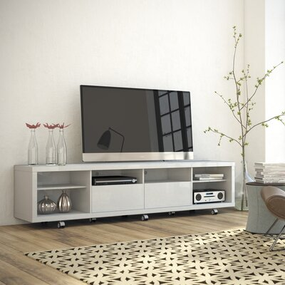 Newburyport Modern Wooden TV Stand Color: White Gloss