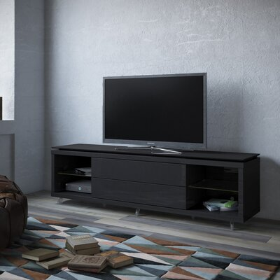 Franklin 77-95 TV Stand Color: Black Gloss / Black Matte, Width of TV Stand: 21.22 H x 85.43 W x 17.63 D