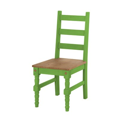 Robertson Solid Wood Dining Chair Finish: Green Wash