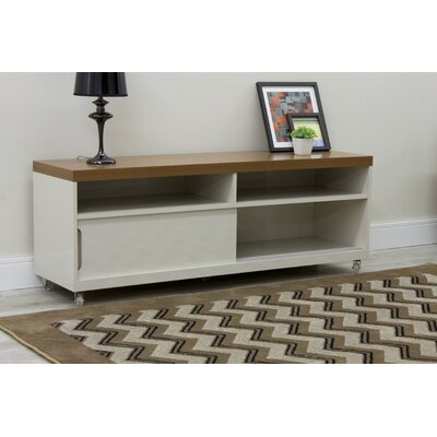 Bridport TV Stand Color: Off White and Maple Cream, Width of TV Stand: 70.86