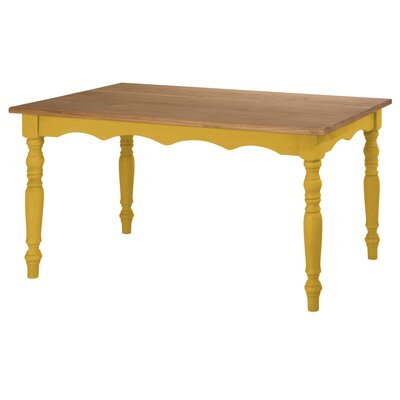Robertson Solid Wood Dining Table Finish: Yellow Wash