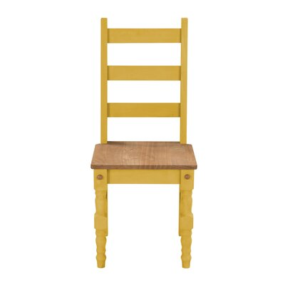 Robertson Solid Wood Dining Chair Finish: Yellow Wash