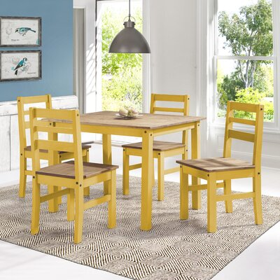 Robin Solid Wood 5 Piece Dining Set Finish: Yellow Wash