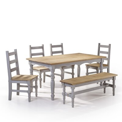 Pinard Solid Wood Dining Set Finish: Gray Wash