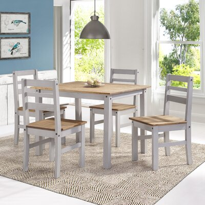 Robin Solid Wood 5 Piece Dining Set Finish: Gray Wash