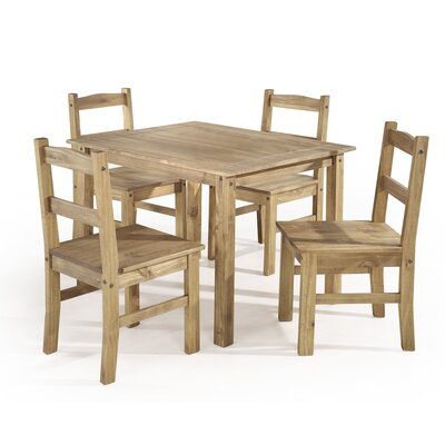 Rodgers Solid Wood 5 Piece Dining Set Finish: Nature