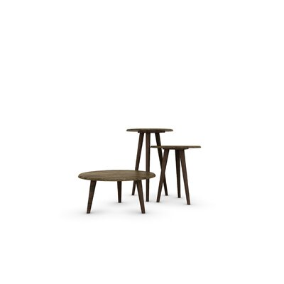 Morristown Mid Century Modern End Table Color: Rustic Brown