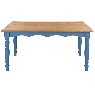 Pinard Solid Wood Dining Table Finish: Blue Wash