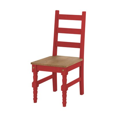 Robertson Solid Wood Dining Chair Finish: Red Wash
