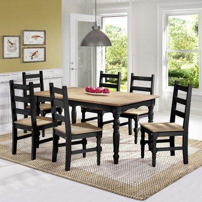 Robertson Solid Wood 7 Piece Dining Set Finish: Black Wash