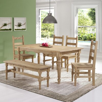 Robertson Solid Wood 6 Piece Dining Set Finish: Nature