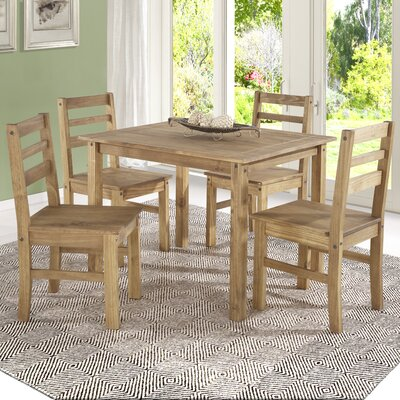Robin Solid Wood 5 Piece Dining Set Finish: Nature