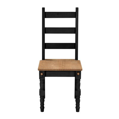 Robertson Solid Wood Dining Chair Finish: Black Wash
