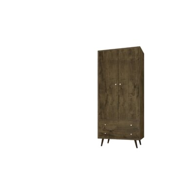 Lewis Mid Century Modern Armoire Color: Rustic Brown