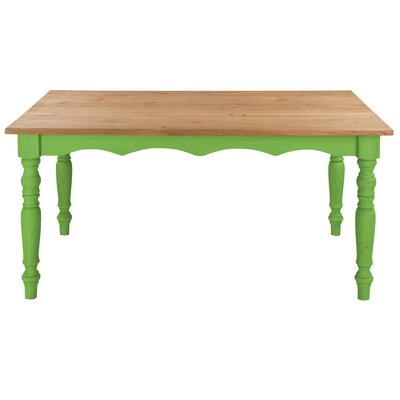 Pinard Solid Wood Dining Table Finish: Green Wash